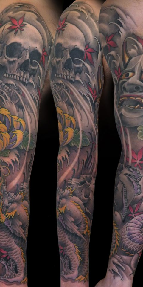 FAMILY ART TATTOO NICKLAS WESTIN – DRAGON CALAVERA LOTTO – JAPONES