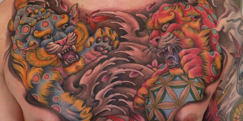 FAMILY ART TATTOO NICKLAS WESTIN – FU DOG FULL COLOR – JAPONES
