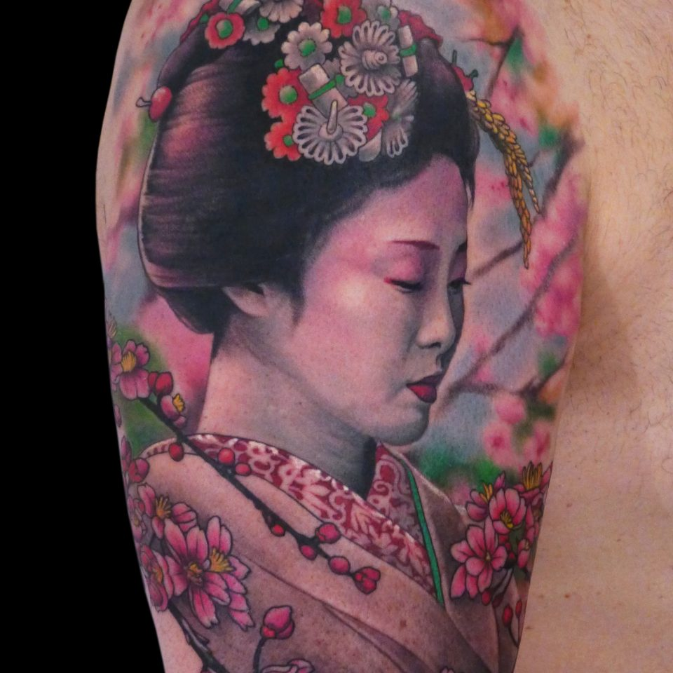 FAMILY ART TATTOO NICKLAS WESTIN – GEISHA – JAPONES