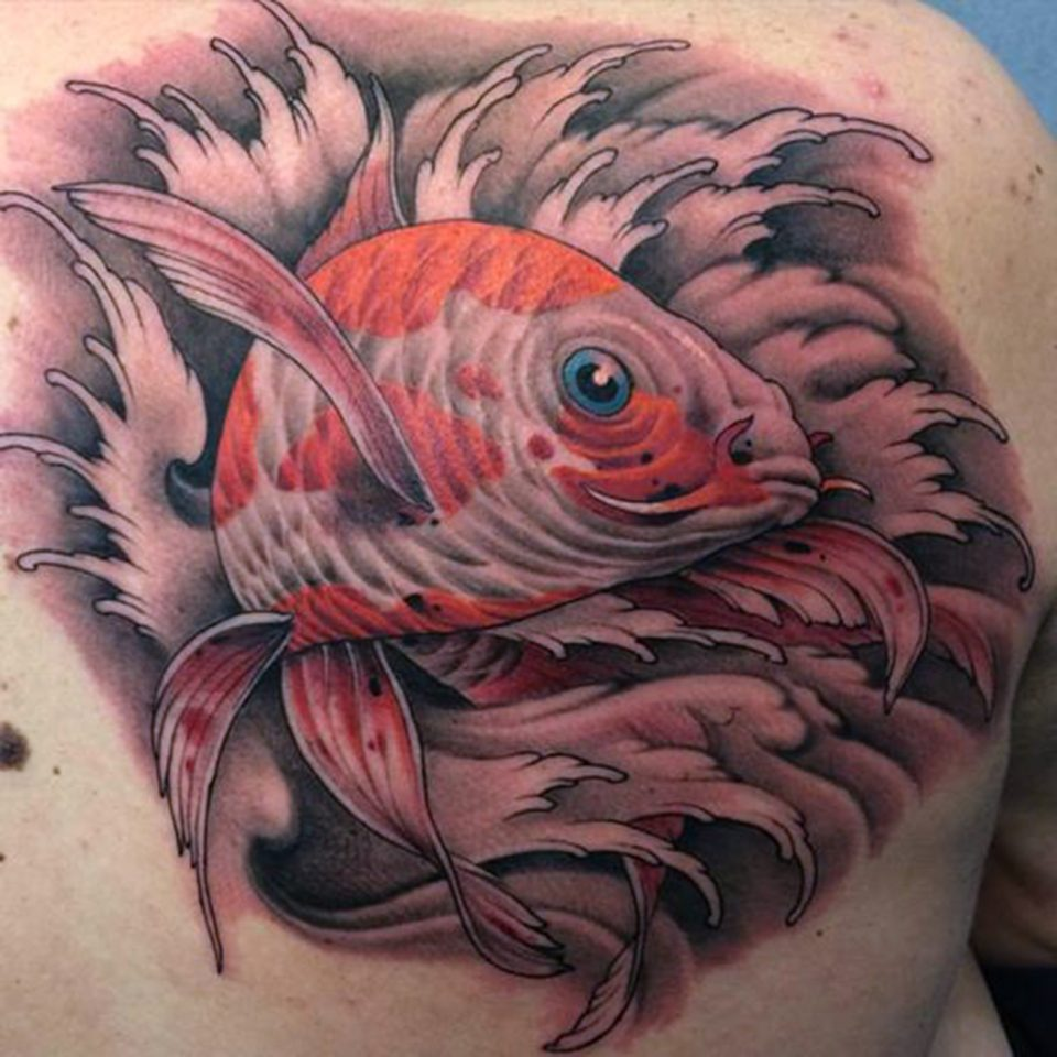 FAMILY ART TATTOO NICKLAS WESTIN – KOI CARPA JAPONESA – JAPONES