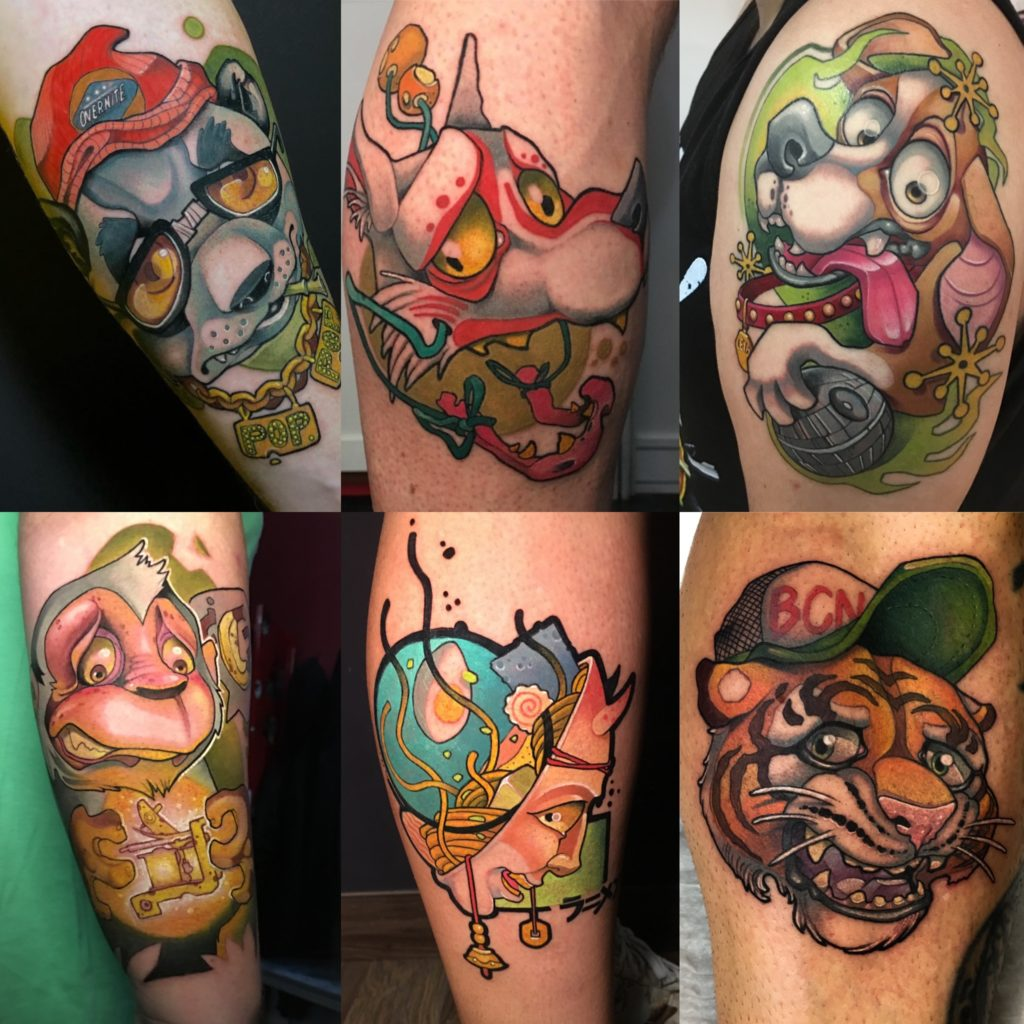 Tatuajes New School - Family Art Tattoo Barcelona